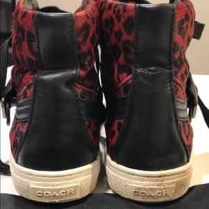 Coach Shoes - Rare COACH Hightop Embellished Sneakers